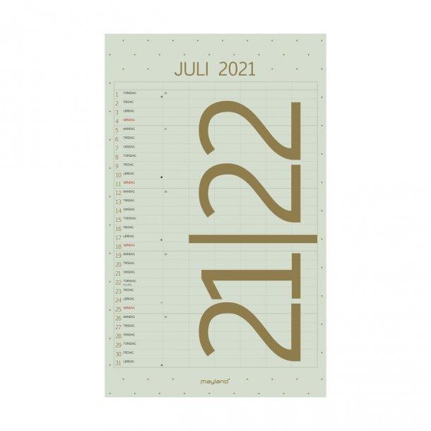 Mayland Vægkalender Color Familiekalender 2021/2022